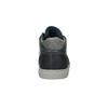Skórzane trampki męskie za kostkę bata, niebieski, 844-9631 - 17