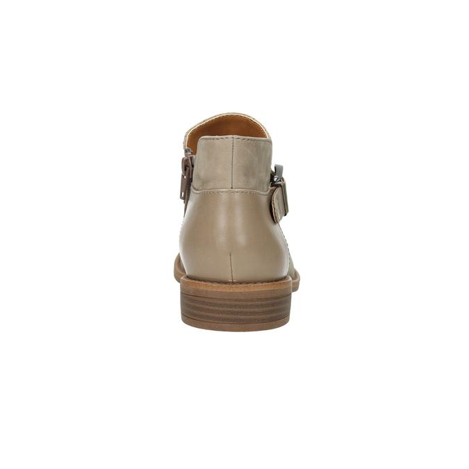 Skórzane botki zklamrami bata, brązowy, 596-3634 - 17