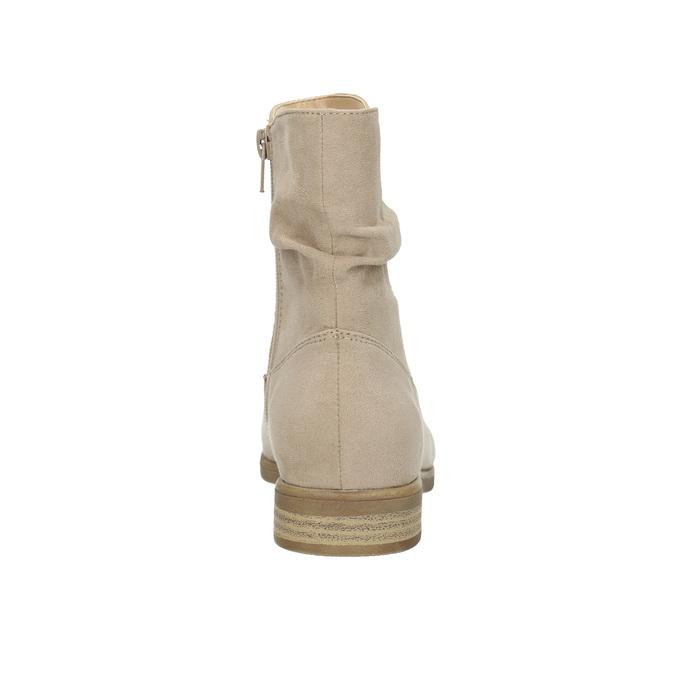 Botki damskie bata, beżowy, 599-8614 - 17