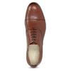 Brązowe skórzane oxfordy męskie vagabond, brązowy, 824-3048 - 17