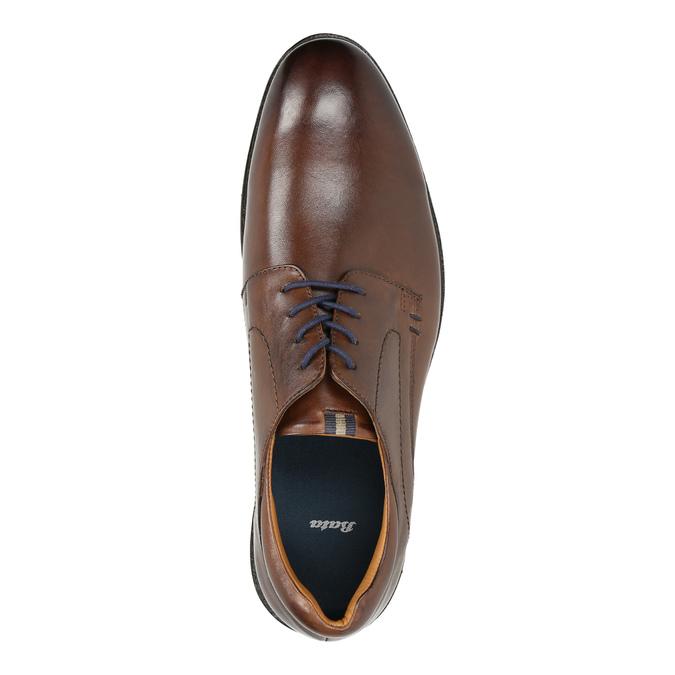 Brązowe półbuty męskie zeskóry bata, brązowy, 826-4800 - 19