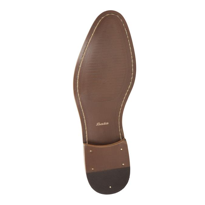 Granatowe półbuty ze skóry bata, niebieski, 826-9794 - 26