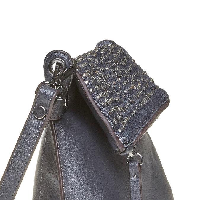 Torebka damska typu crossbody, zgwiazdkami bata, niebieski, 961-9302 - 17