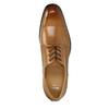 Skórzane półbuty męskie ze zdobieniami bata, brązowy, 826-3821 - 19