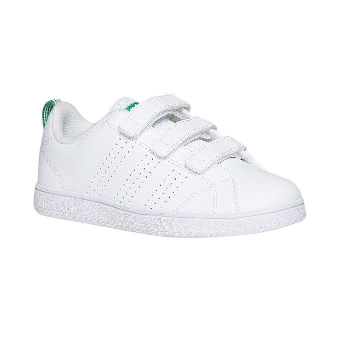 Dziecięce buty sportowe na rzepy w kolorze białym adidas, biały, 301-1168 - 13