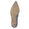 Skórzane czółenka z perforacją pillow-padding, niebieski, 626-9636 - 26