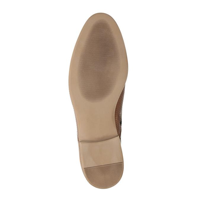 Skórzane botki zperforacją bata, brązowy, 596-4645 - 26