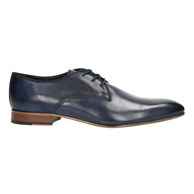 Niebieskie półbuty męskie ze skóry bata, niebieski, 826-9836 - 15