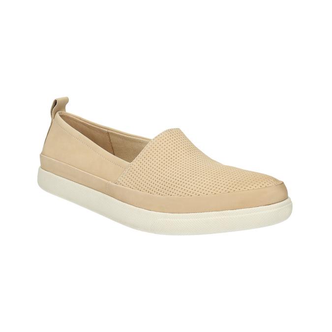 Lekkie damskie wsuwane buty bata, beżowy, 516-8601 - 13