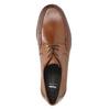 Skórzane męskie półbuty zwyrazistymi przeszyciami bata, brązowy, 824-4838 - 19