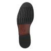 Skórzane męskie półbuty zwyrazistymi przeszyciami bata, brązowy, 824-4838 - 26
