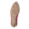 Skórzane czółenka na platformie bata, czerwony, 626-5638 - 26
