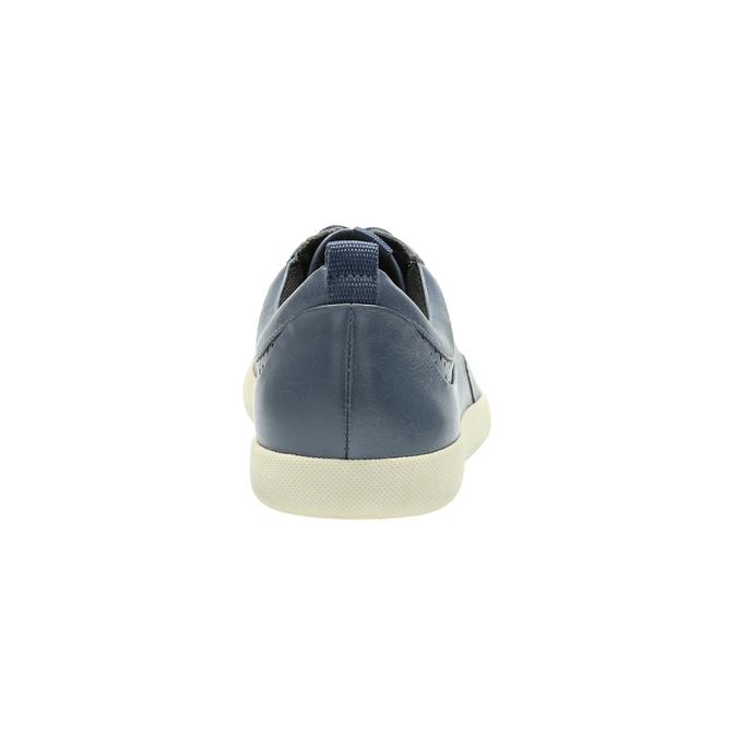 Niebieskie skórzane trampki damskie bata, niebieski, 526-9618 - 17