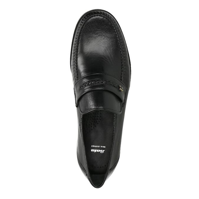 Skórzane męskie buty typu Loafers bata, czarny, 814-6621 - 19