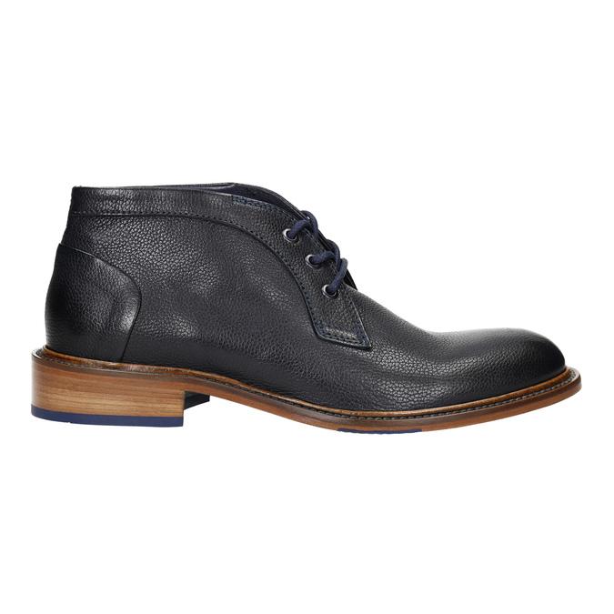 Buty za kostkę wykonane w całości ze skóry bata, niebieski, 826-9909 - 15