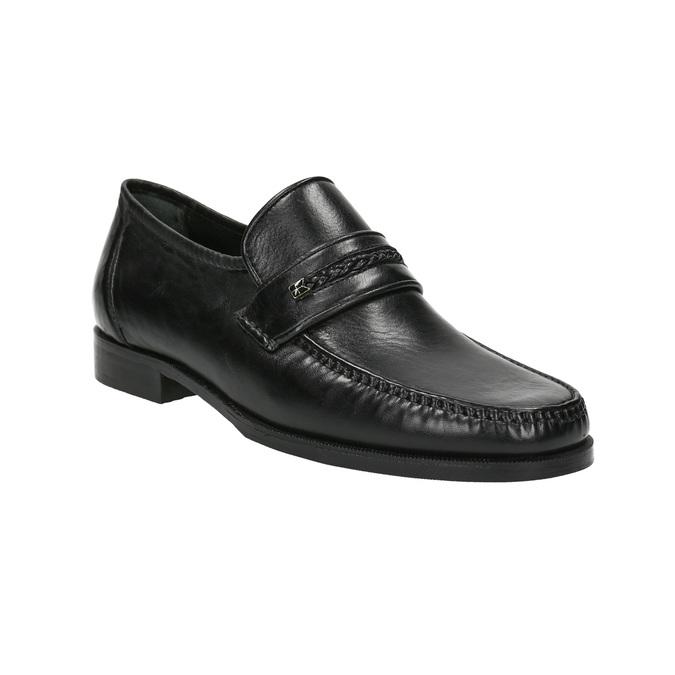 Skórzane męskie buty typu Loafers bata, czarny, 814-6621 - 13