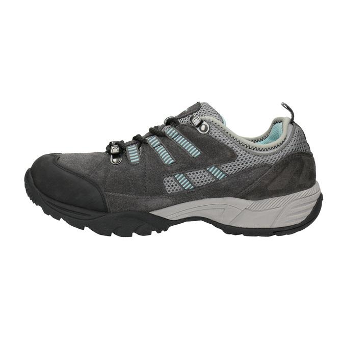 Skórzane buty damskie w stylu outdoor power, szary, 503-2118 - 26