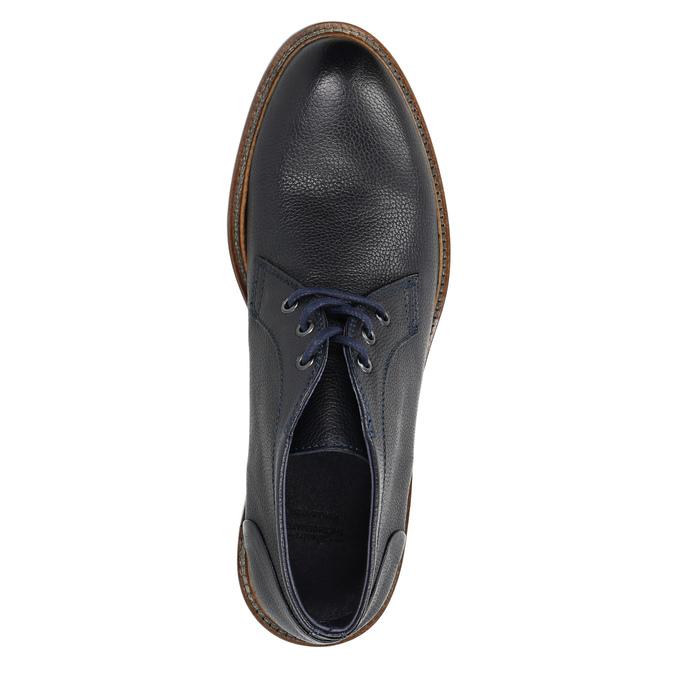 Buty za kostkę wykonane w całości ze skóry bata, niebieski, 826-9909 - 19