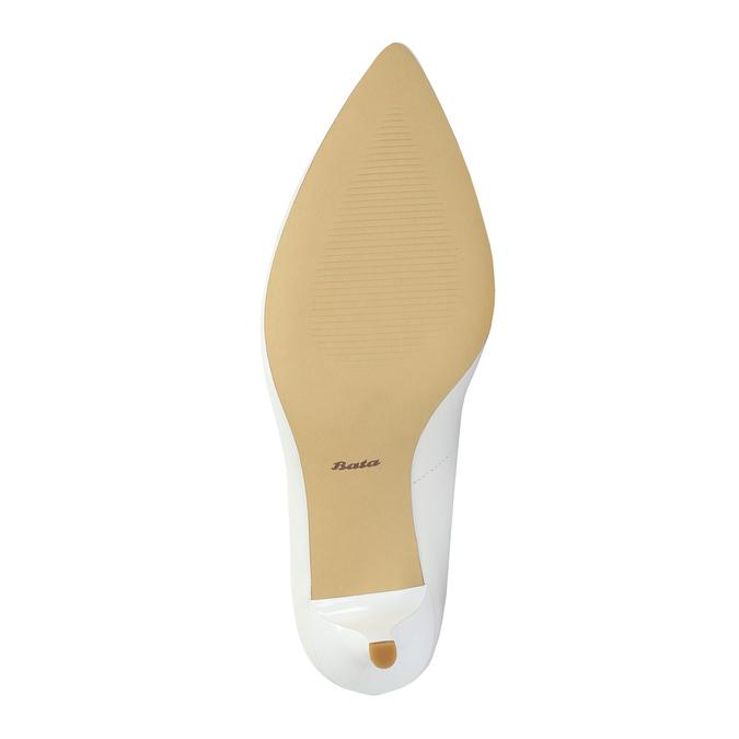 Damskie skórzane czółenka bata, biały, 624-1632 - 26