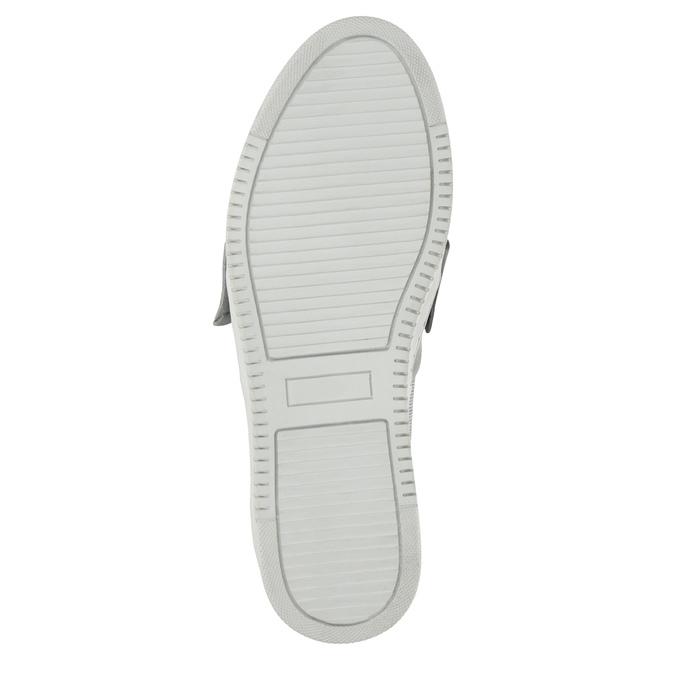 Skórzane slip-on zkokardami bata, srebrny, 516-2605 - 26