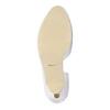 Białe skórzane czółenka zwycięciami insolia, biały, 728-1637 - 26