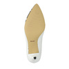 Skórzane czółenka z wzorzystym noskiem bata, biały, 624-1633 - 26