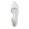 Białe skórzane czółenka zwycięciami insolia, biały, 728-1637 - 19