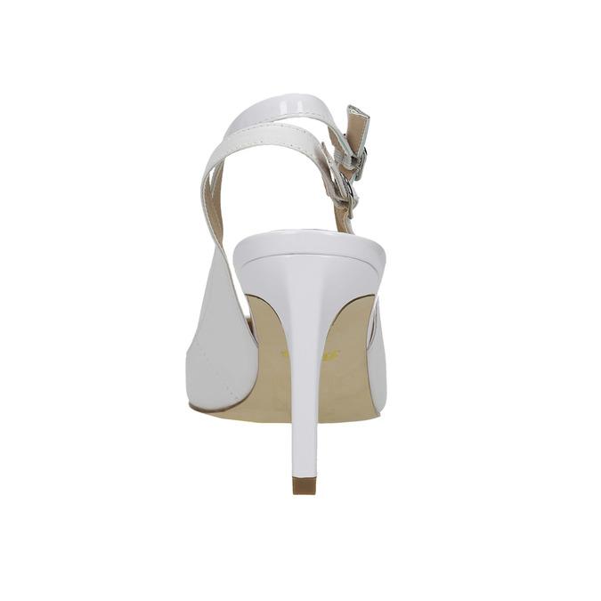 Białe skórzane czółenka bez pięty insolia, biały, 724-1634 - 17