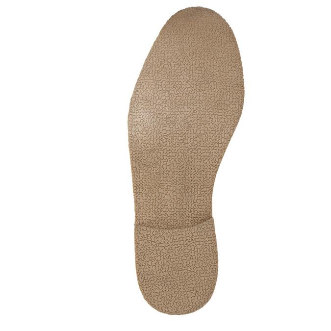 Brązowe półbuty ze skóry, zkontrastowymi przeszyciami bata, brązowy, 826-4815 - 26