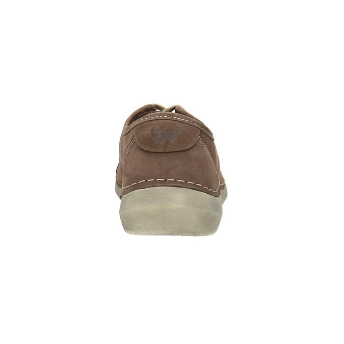 Damskie skórzane półbuty na co dzień weinbrenner, brązowy, 546-4603 - 17