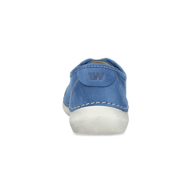 Skórzane półbuty na co dzień weinbrenner, niebieski, 546-9603 - 15