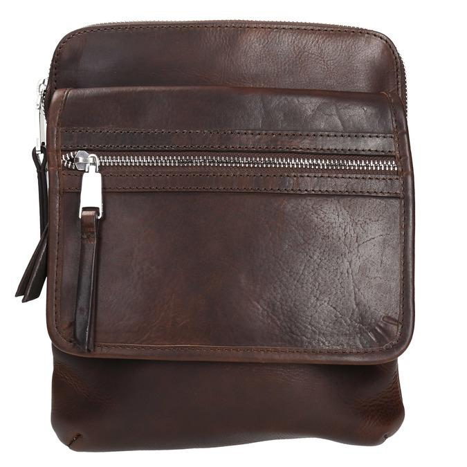 Skórzana torba typu crossbody bata, brązowy, 964-4237 - 19