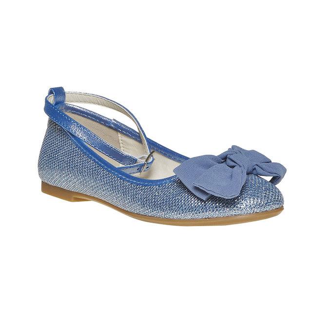 Niebieskie baleriny dziewczęce mini-b, niebieski, 329-9241 - 13