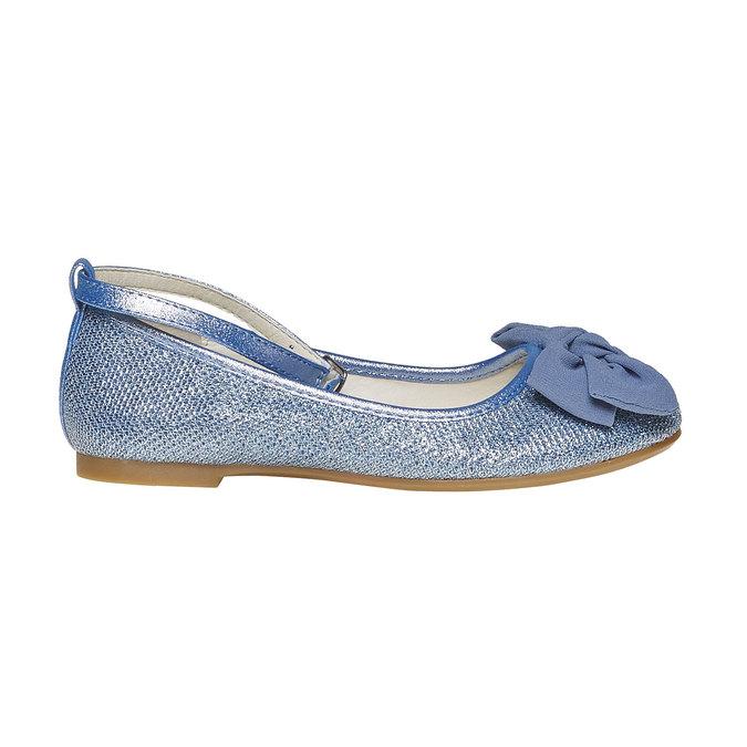 Niebieskie baleriny dziewczęce mini-b, niebieski, 329-9241 - 15
