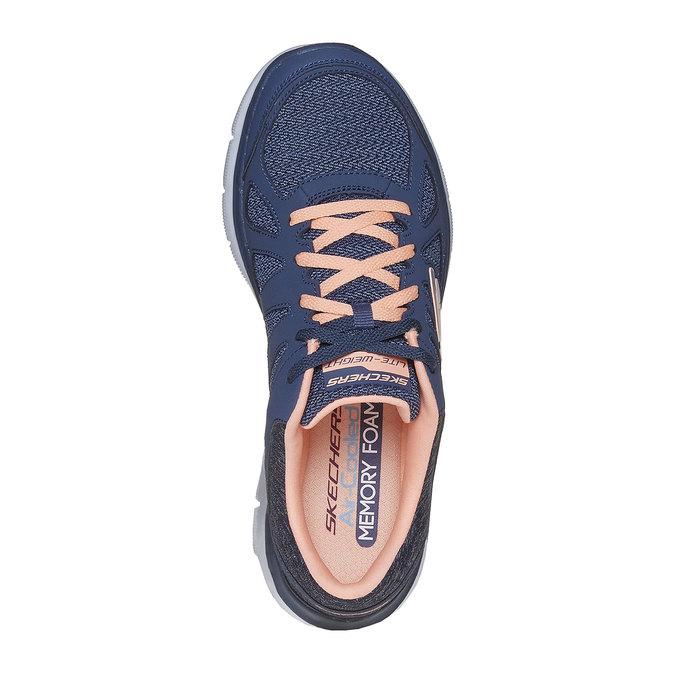 Sportowe trampki damskie skechers, niebieski, 509-9963 - 19