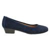 Skórzane czółenka oszerokościH bata, niebieski, 623-9601 - 15