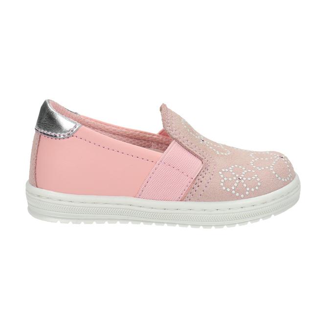 Dziecięce skórzane buty Slip-on bubblegummer, różowy, 123-5600 - 15