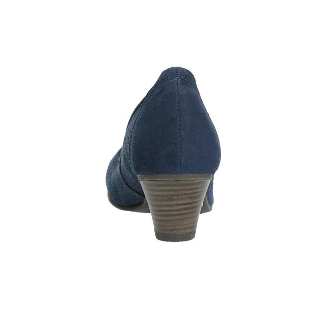 Skórzane czółenka oszerokościH bata, niebieski, 623-9602 - 17