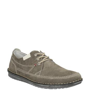 Nieformalne zamszowe półbuty męskie bata, szary, 853-2612 - 13