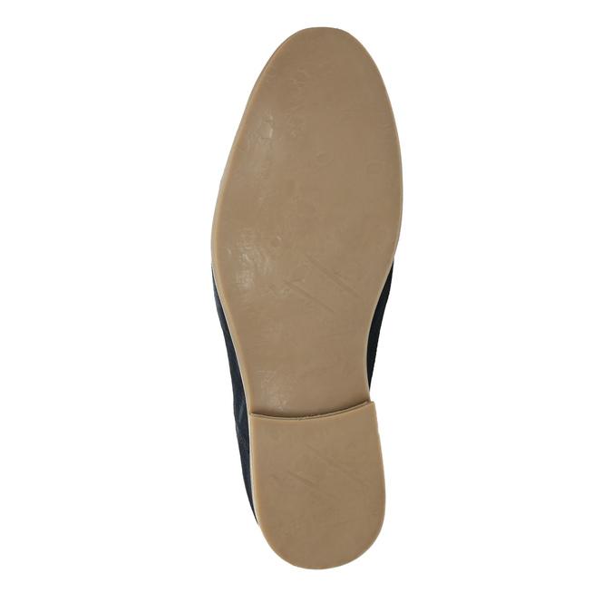 Półbuty z zamszowej skóry bata, niebieski, 823-9602 - 26