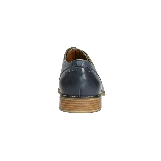 Niebieskie półbuty ze skóry bata, niebieski, 826-9801 - 17