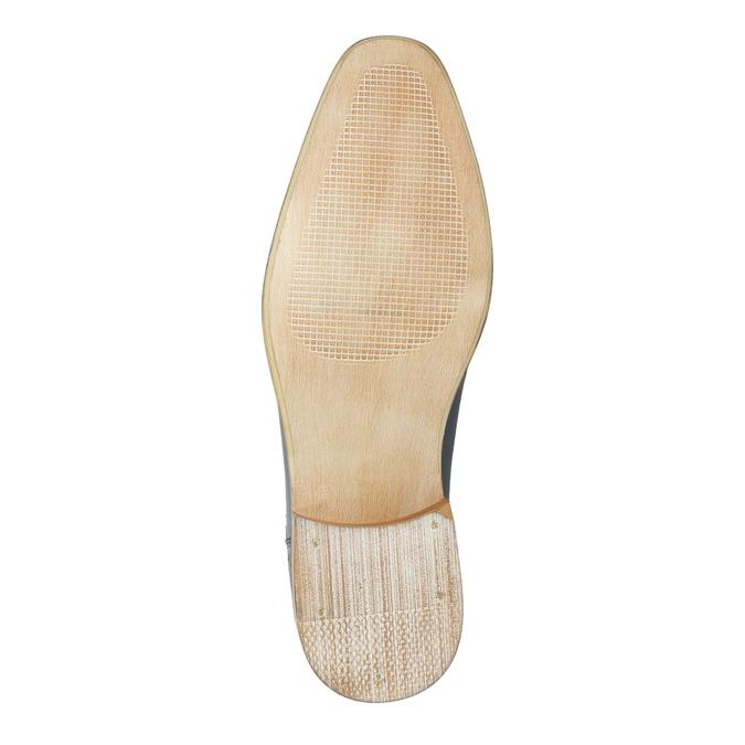 Niebieskie półbuty ze skóry bata, niebieski, 826-9801 - 26