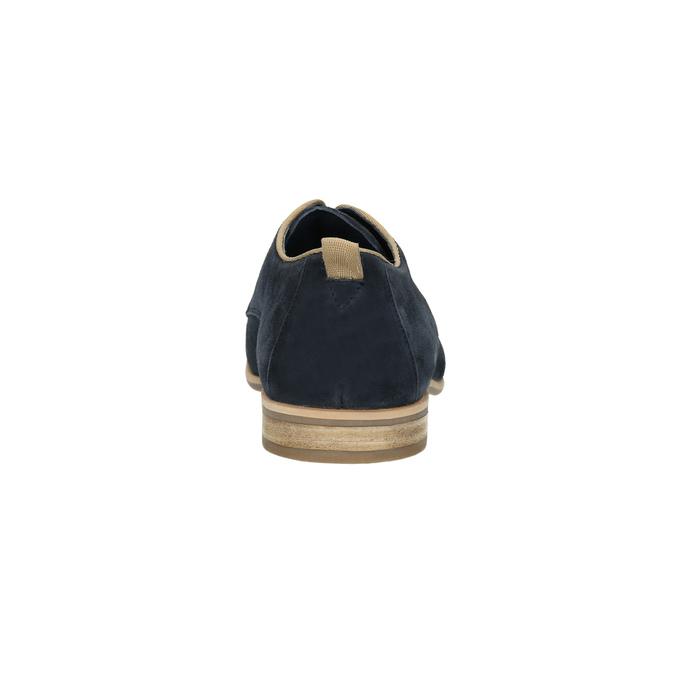 Półbuty z zamszowej skóry bata, niebieski, 823-9602 - 17