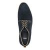 Półbuty z zamszowej skóry bata, niebieski, 823-9602 - 19