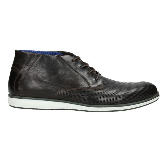 Skórzane buty za kostkę znieformalną podeszwą bata, czarny, 826-4818 - 15