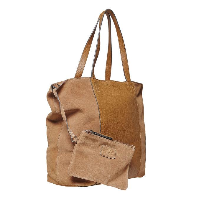 Brązowa skórzana torba damska bata, brązowy, 964-3185 - 17