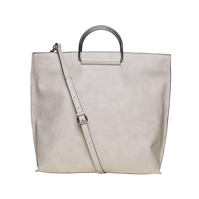 Kremowa torba damska bata, szary, 961-8327 - 26