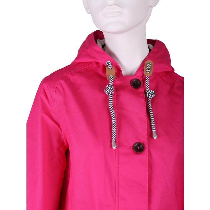 Różowa kurtka damska zkapturem joules, różowy, 979-5010 - 16