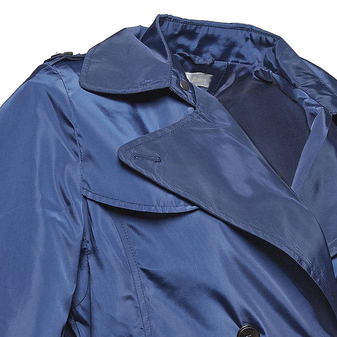Granatowy trencz damski bata, niebieski, 979-9205 - 16