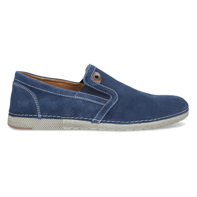 Zamszowe buty Slip-on weinbrenner, niebieski, 833-9601 - 19